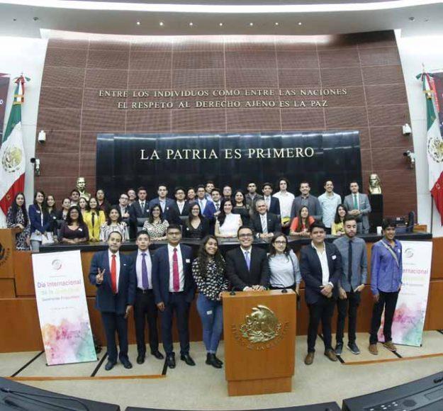 """Intervención de la senadora Kenia López Rabadán en el """"Parlamento abierto. Día Internacional de la Juventud, generando propuestas""""."""