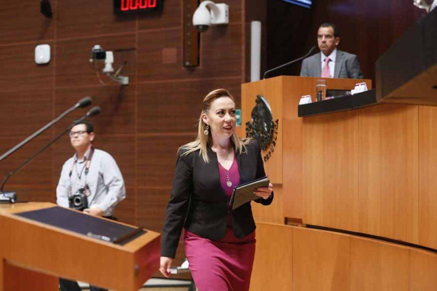 """Senadora Alejandra Reynoso Sánchez para referirse al dictamen de la Primera Comisión, con punto de acuerdo el que exhorta al Poder Ejecutivo Federal, para que envíe al Senado de la República y a la Cámara de Diputados el """"Plan de Desarrollo Integral para la Inversión en el Sur de México y Centroamérica"""""""