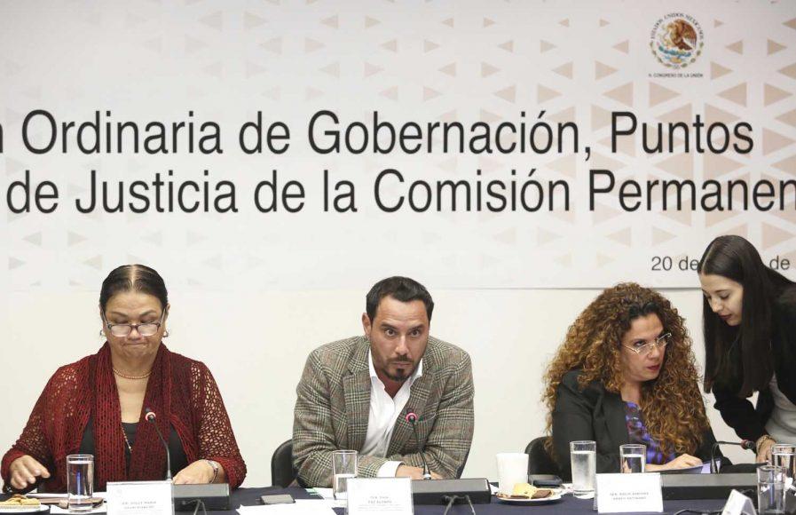 Senador Raúl Paz Alonzó, durante su participación en la Primera Comisión de la Permanente