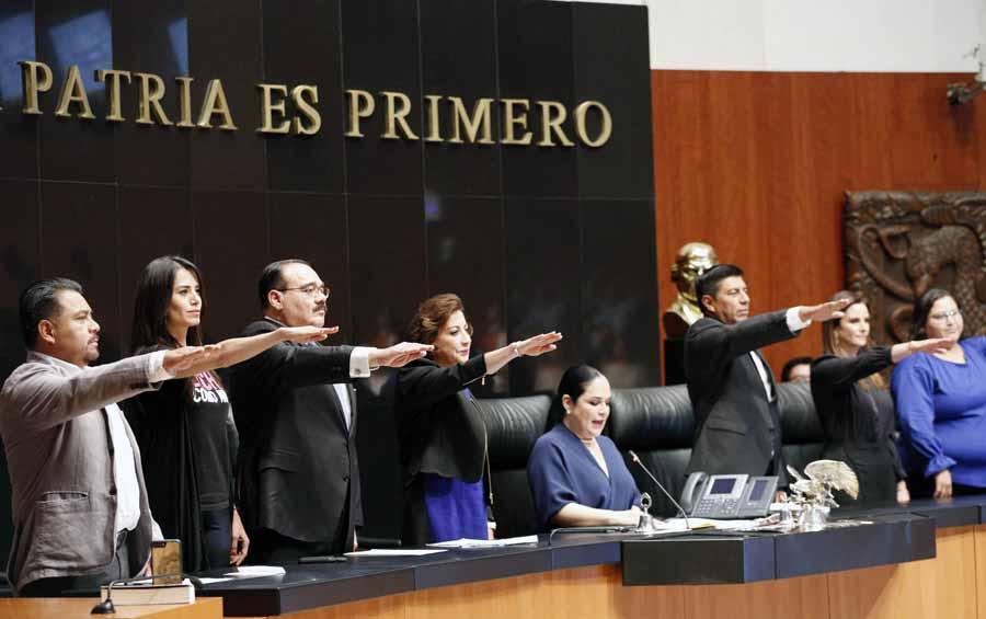 La senadora Guadalupe Murguía Gutiérrez, nuevamente como vicepresidenta de la Mesa Directiva del Senado.