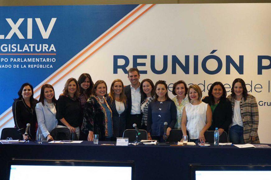 Se reúnen senadoras y senadores del GPPAN con el Consejero Presidente del Instituto Nacional Electoral (INE), Lorenzo Córdova Vianello, en el marco de su reunión plenaria.