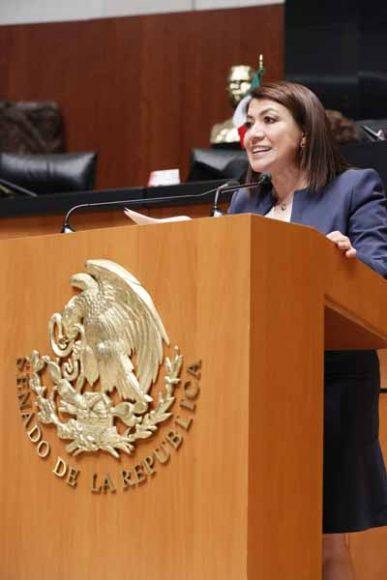 Intervención de la senadora María Guadalupe Saldaña Cisneros, al presentar una iniciativa con proyecto de decreto que adiciona el artículo 1 de la Ley de la Industria Eléctrica.