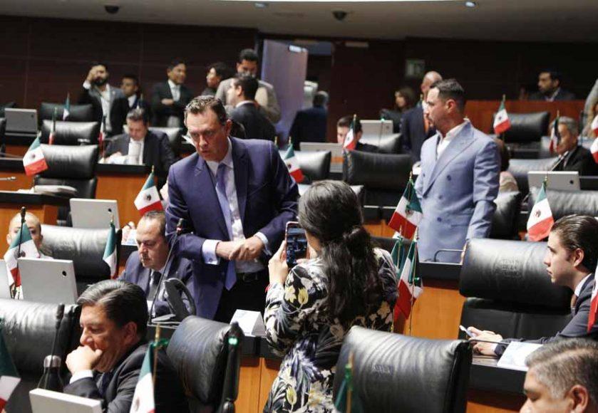 Senador Mauricio Kuri González, al intervenir desde su escaño