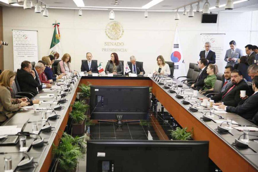 Intervención del senador Gustavo Madero Muñoz, en la reunión de trabajo de las comisiones unidas de Relaciones Exteriores Asia Pacífico-África y de Economía, en torno al interés de la negociación de un tratado de libre comercio entre México y la República de Corea.