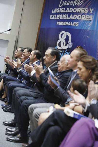 Intervención del coordinador de las y los senadores del PAN, Mauricio Kuri González, durante el Encuentro: Legisladores y ex Legisladores federales del PAN.