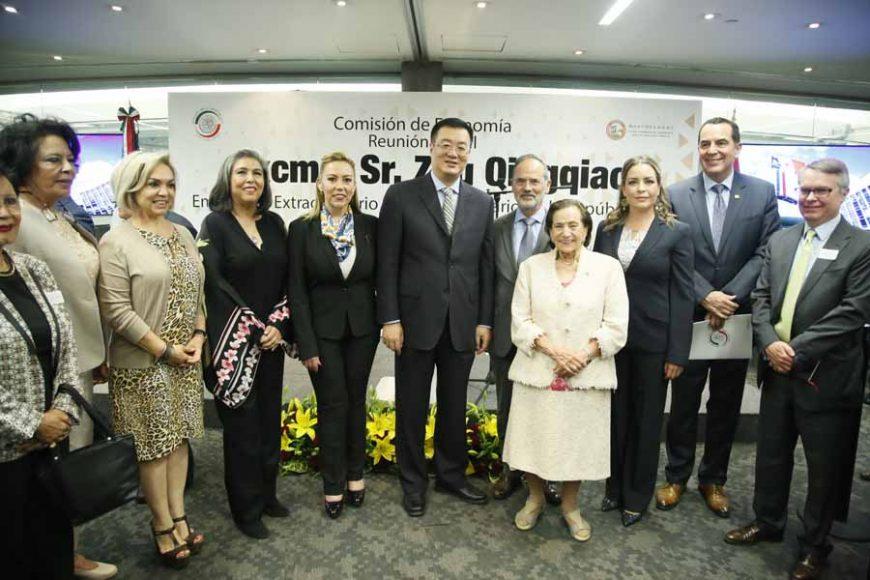 Convocatoria para la Reunión de Trabajo de la Comisión de Economía con Excmo. Sr. Zhu Qingqiao, Embajador Extraordinario y Plenipotenciario de la República Popular China en México