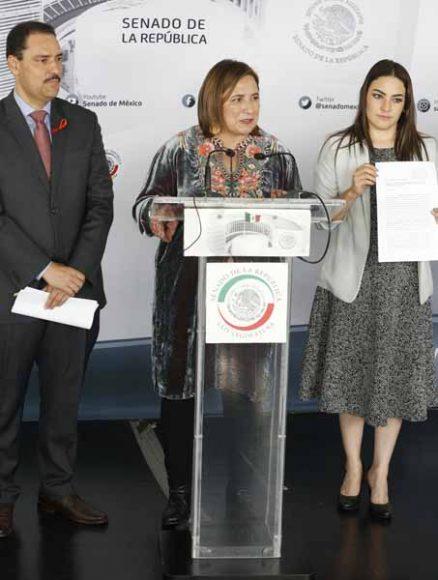 Conferencia de prensa ofrecida por la senadora Xóchitl Gálvez Ruiz