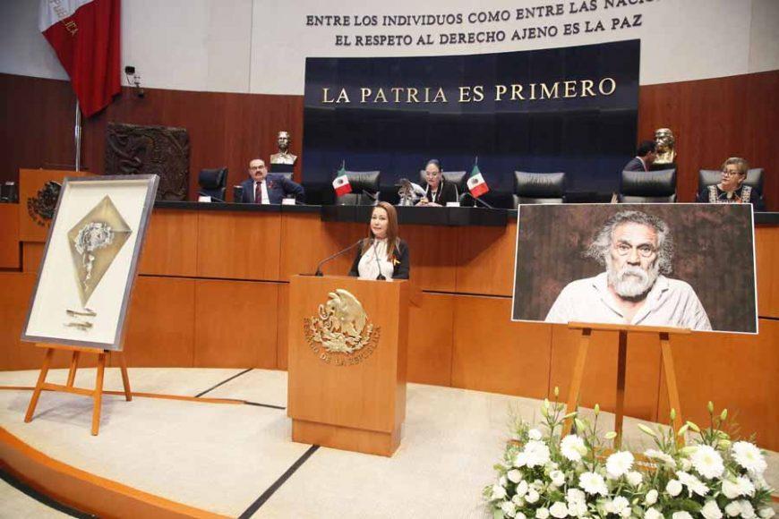 Intervención en tribuna de la senadora Gloria Elizabeth Núñez Sánchez durante el homenaje al pintor Francisco Toledo.
