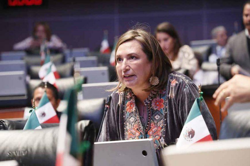 Intervención, desde su escaño, de la senadora Xóchitl Gálvez Ruizacerca de un punto de acuerdo para que la SFP iniciara una investigación sobre las 25 propiedades no declaradas por el titular de la CFE.