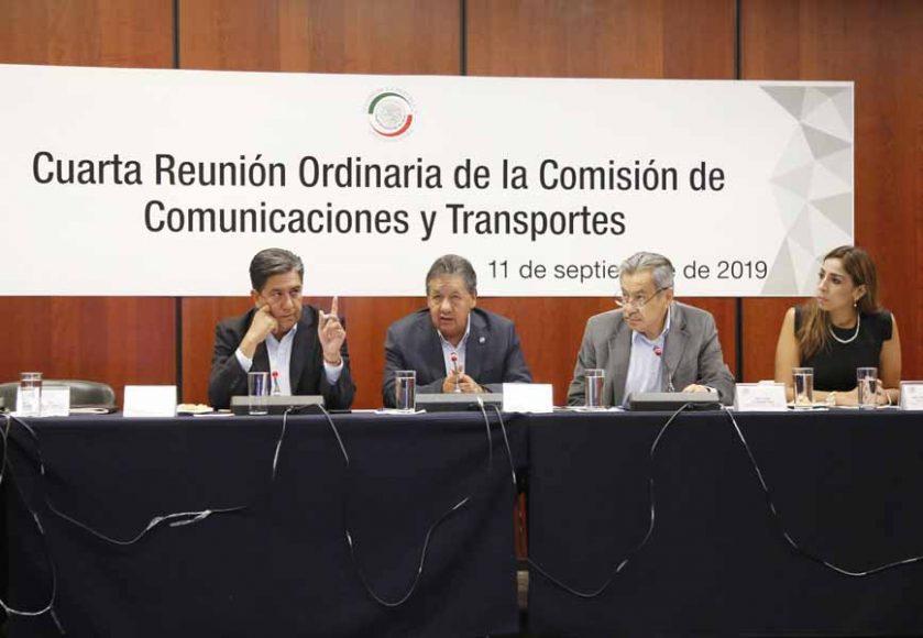 Intervención del senador Marco Antonio Gama Basarte en la reunión de trabajo de la Comisión de Comunicaciones y Transportes.