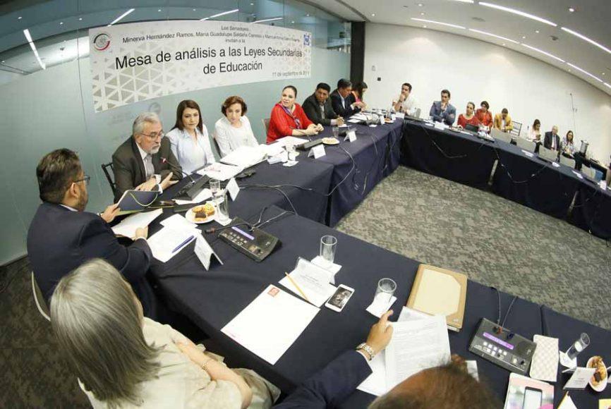 Intervención de la senadora Guadalupe Saldaña Cisneros, en la inauguración de la Mesa de análisis a las Leyes Secundarias de Educación