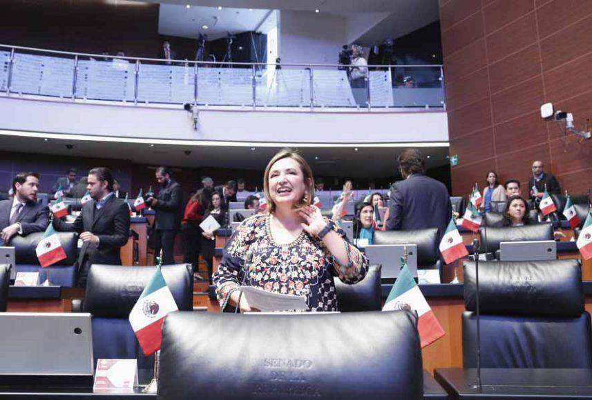 Intervención desde su escaño de la senadora Xóchitl Gálvez Ruiz