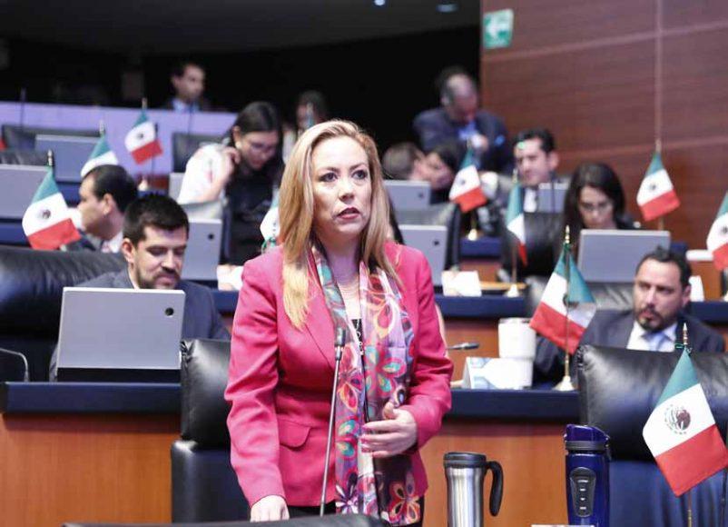 Intervención desde su escaño de la senadora Alejandra Reynoso Sánchez