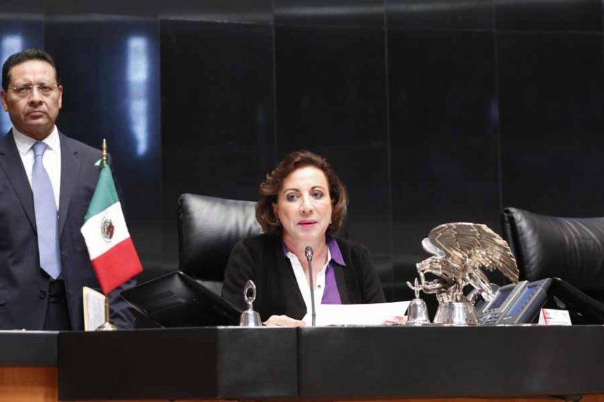 Senadora Guadalupe Murguía Gutiérrez, durante la sesión ordinaria