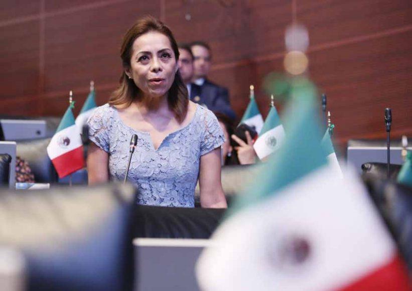 Senadora Josefina Vázquez Mota al intervenir desde su escaño