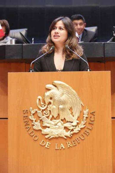 Intervención en tribuna de la senadora Indira Rosales San Román durante la sesión de análisis del Primer Informe de Gobierno en materia de política interior.