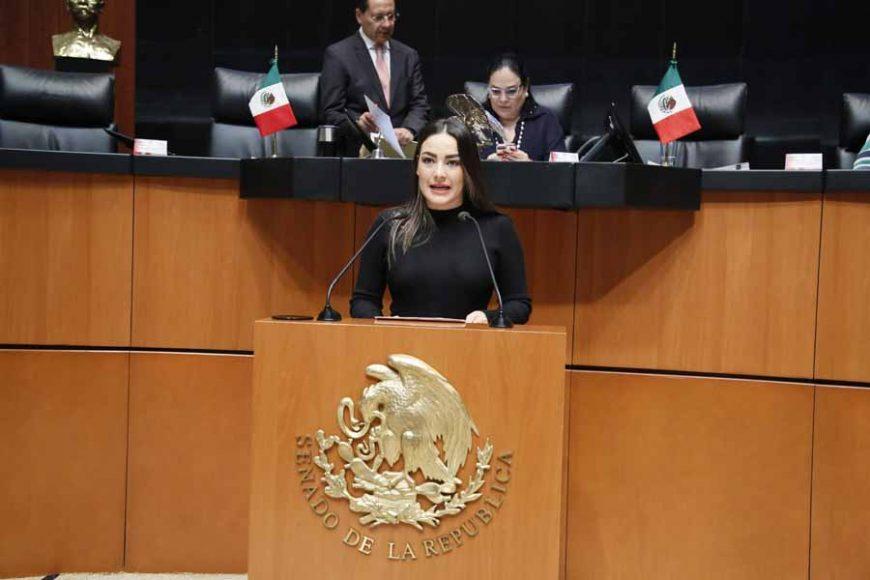 Senadora Martha Cecilia Márquez, al intervenir en Tribuna