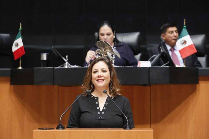 Intervención en tribuna de la senadora Gina Andrea Cruz Blackledge, al presentar punto de acuerdo que exhorta al Congreso del estado de Baja California a enviar al Ejecutivo de su estado el decreto para la promulgación de la reforma al Artículo Octavo Transitorio de la Constitución Política del Estado Libre y Soberano de Baja California, aprobado mediante el Decreto 112, de fecha 11 de septiembre del año 2014.