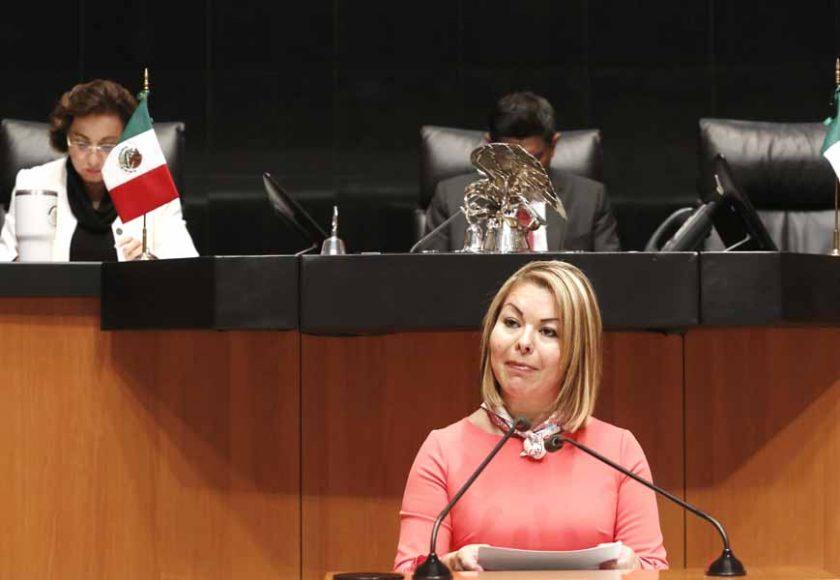 Intervención en tribuna de la senadora Minerva Hernández Ramos durante el análisis del Primer Informe de Gobierno en materia de política económica.