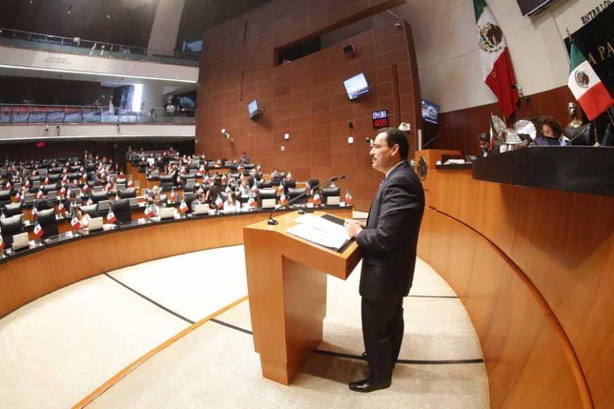 Intervención en tribuna del senador Juan Antonio Martín del Campo Martín del Campo, al presentar iniciativa con proyecto de decreto que reforma la Ley Orgánica del Congreso General de los Estados Unidos Mexicanos.