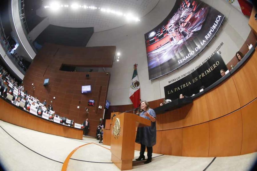 Senadora Xóchitl Gálvez Ruiz, durante la discusión de un dictamen por el que se expide la Ley General de Educación y se abroga la Ley General de la Infraestructura Física Educativa