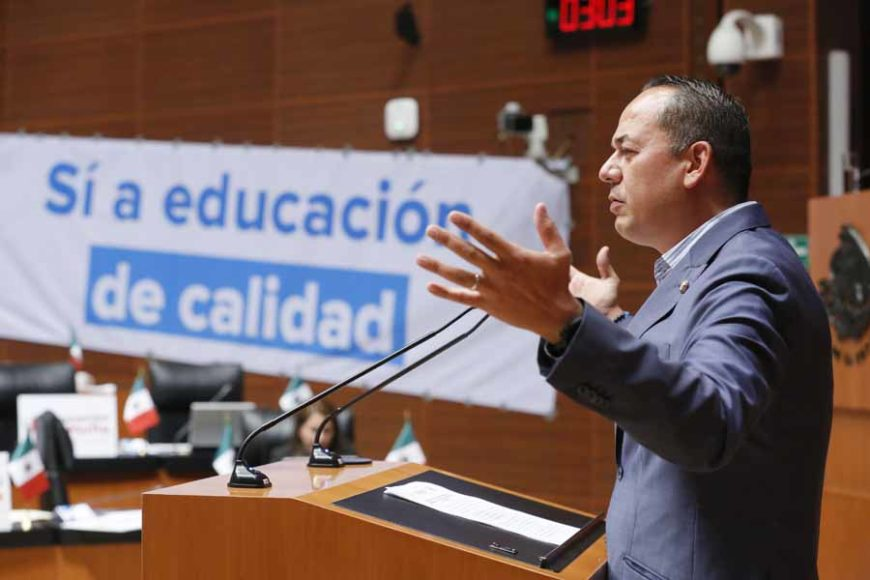 Intervención del senador Erandi Bermúdez Méndez, al presentar reservas a un dictamen de las comisiones unidas de Educación y de Estudios Legislativos Segunda, por el que se expide la Ley General de Educación y se abroga la Ley General de la Infraestructura Física Educativa.