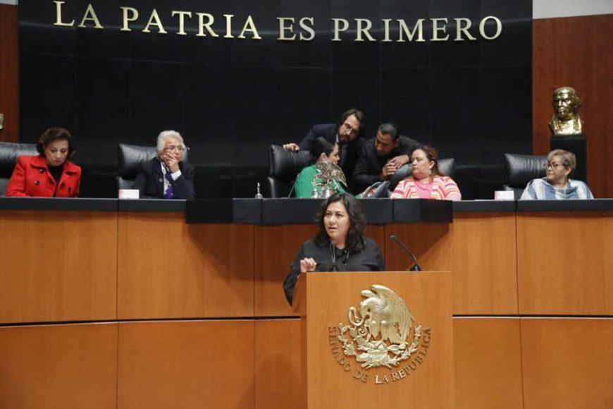 Intervención en tribuna de la senadora Nadia Navarro Acevedo en la primera ronda de intervenciones durante la comparecencia de la titular de la Secretaría de Gobernación, Olga Sánchez Cordero, con motivo de la glosa del Primer Informe de Gobierno.