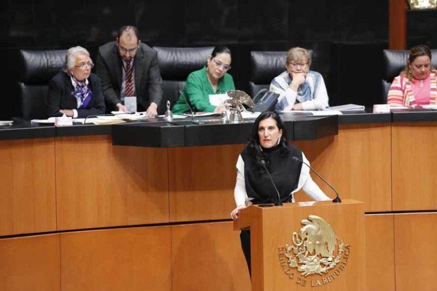Intervención de la senadora Kenia López Rabadán, en la segunda ronda de intervenciones durante la comparecencia de la titular de la Secretaría de Gobernación, Olga Sánchez Cordero, con motivo de la glosa del Primer Informe de Gobierno.