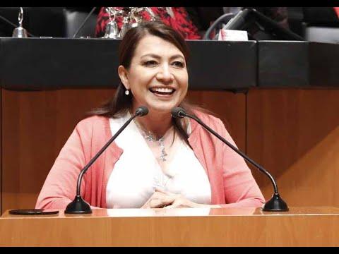 Senadora Guadalupe Saldaña Cisneros, al participar en la discusión de un dictamen en materia de beneficios fiscales para Baja California Sur