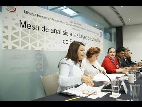 Senadora Guadalupe Saldaña Cisneros, en la inauguración de la Mesa de análisis a las Leyes Secundarias de Educación