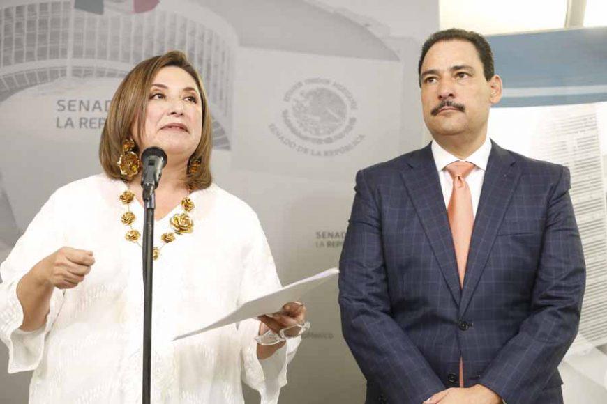 Conferencia de prensa de la senadora Xóchitl Gálvez y el senador Juan Antonio Martín del Campo