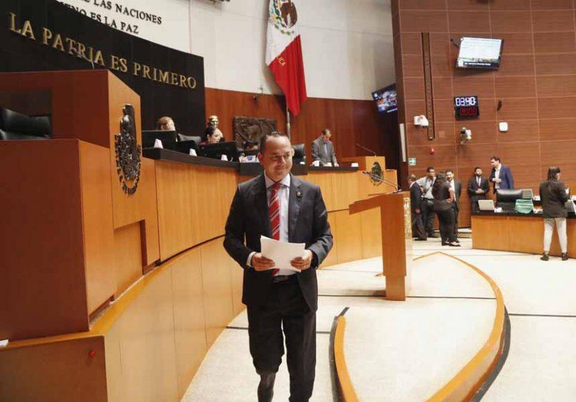 Intervención en tribuna del senador José Erandi Bermúdez Méndez para referirse a un dictamen de las Comisiones Unidas de Agricultura, Ganadería, Pesca y Desarrollo Rural; y de Estudios Legislativos, con proyecto de decreto que reforma el artículo 3° de la Ley de Desarrollo Rural Sustentable.