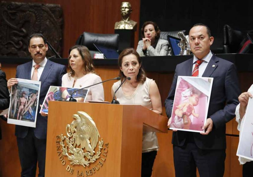 Intervención de la senadora Josefina Vázquez Mota, al presentar una iniciativa que reforma los artículos 107 Bis y 205 Bis, y que adiciona un artículo 266 Ter del Código Penal Federal.