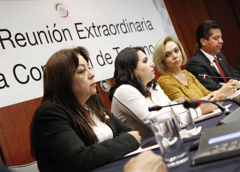 Senadora Mayuli Latifa Martínez Simón, durante la reunión de trabajo de la Comisión de Turismo