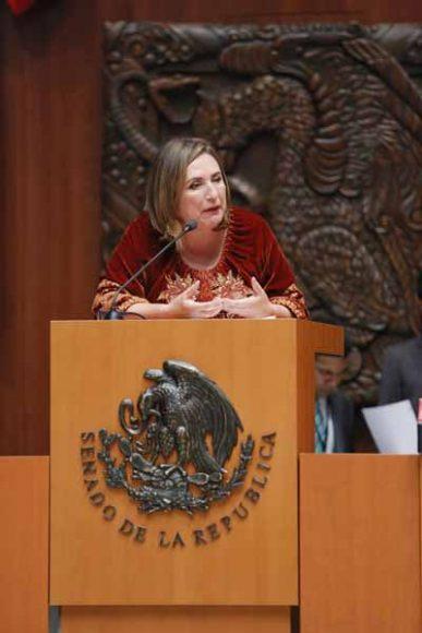 Intervención en tribuna de la senadora Xóchitl Gálvez Ruiz durante la comparecencia de Arturo Herrera Gutiérrez, Secretario de Hacienda y Crédito Público, para referirse análisis del I Informe de Gobierno del Presidente de la República, en materia de Política Económica.