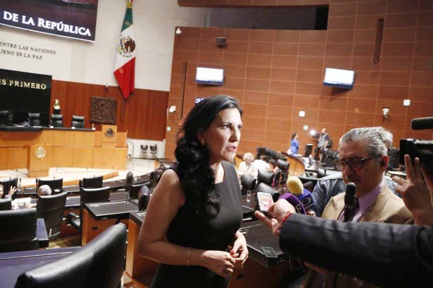 Entrevista concedida por la senadora Kenia López Rabadán, al término de la sesión ordinaria.