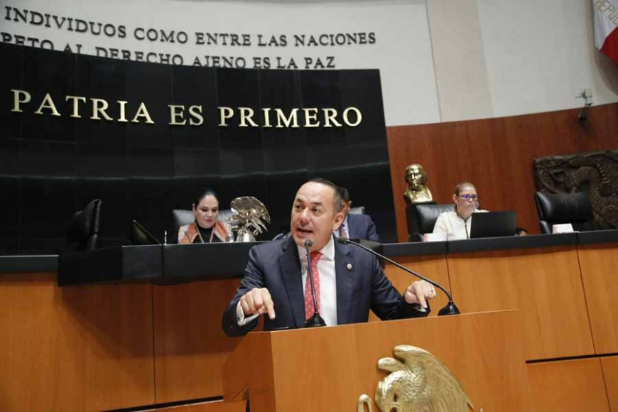 Intervención en tribuna del senador José Erandi Bermúdez Méndez para referirse a la renuncia del Eduardo Tomás Medina Mora Icaza al cargo de Ministro de la Suprema Corte de Justicia de la Nación, la cual ha sido aceptada por el Presidente de la República.
