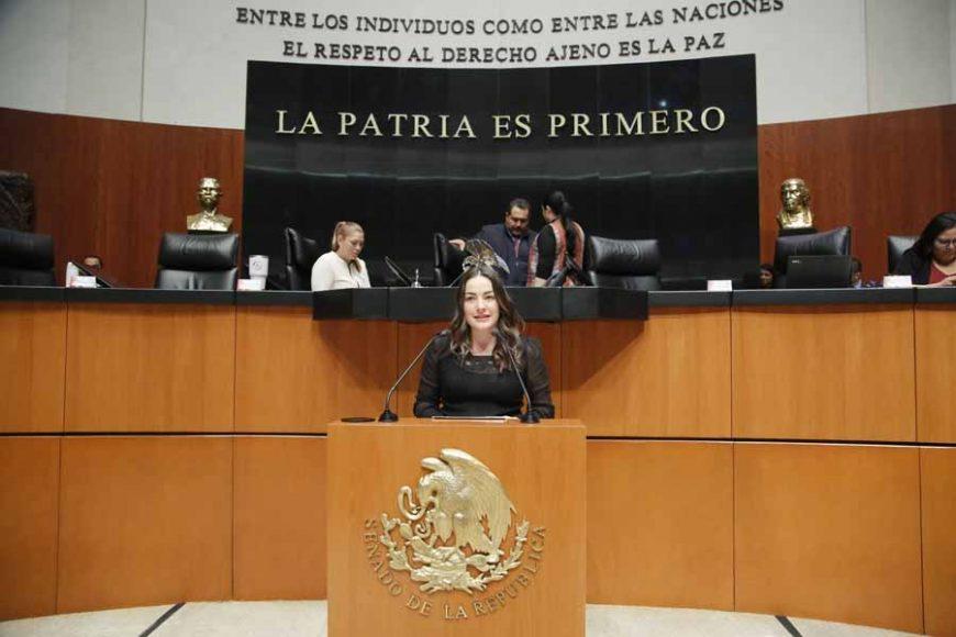Senadora Martha Cecilia Márquez al intervenir en tribuna