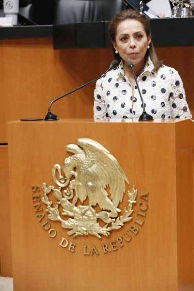 Intervención en tribuna de la senadora Josefina Vázquez Mota para referirse al dictamen de la Comisión de la Medalla Belisario Domínguez.