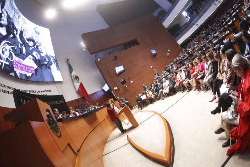 Intervención de la senadora Nadia Navarro Acevedo para referirse a la Conmemoración del Sexagésimo Sexto Aniversario del Reconocimiento del Derecho al Voto de las Mujeres en México.