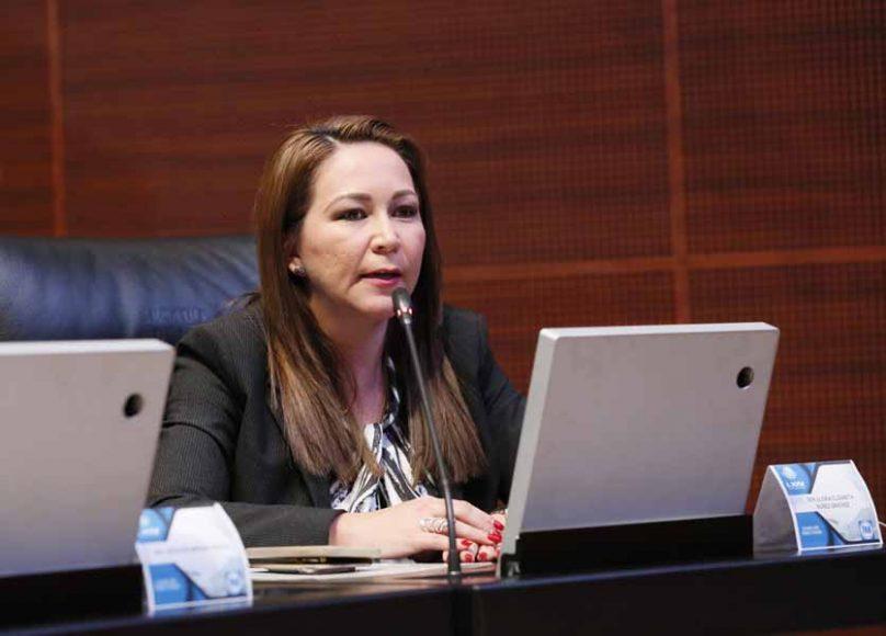 Senadora Gloria Núñez Sánchez al intervenir desde su escaño
