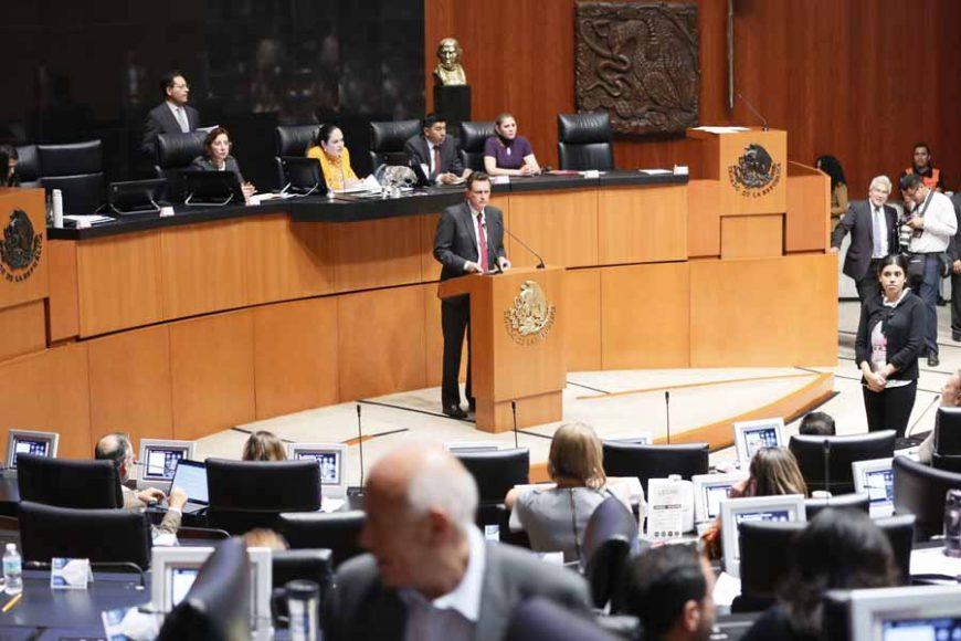 Intervención en tribuna del Coordinador de las y los senadores del PAN, Mauricio Kuri González, al presentar un punto de acuerdo para solicitar la comparecencia del secretario de Seguridad Pública y Protección Ciudadana, Alfonso Durazo Montaño.
