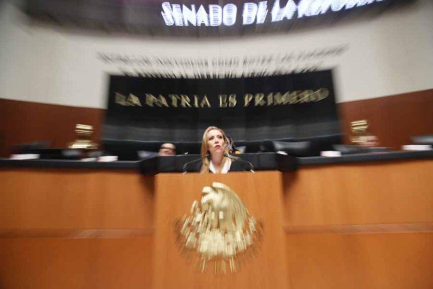 Intervención de la senadora Alejandra Reynoso Sánchez, al participar en la discusión de un punto de acuerdo para solicitar la comparecencia del secretario de Seguridad Pública y Protección Ciudadana, Alfonso Durazo Montaño.