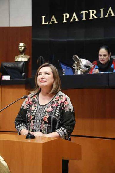 Intervención de la senadora Xóchitl Gálvez Ruiz, al participar en la discusión de un dictamen de la Comisión de Medio Ambiente, Recursos Naturales y Cambio Climático, por el que el Senado de la República emite una declaración de emergencia climática y se exhorta al Poder Ejecutivo Federal a realizar diversas acciones en la materia.