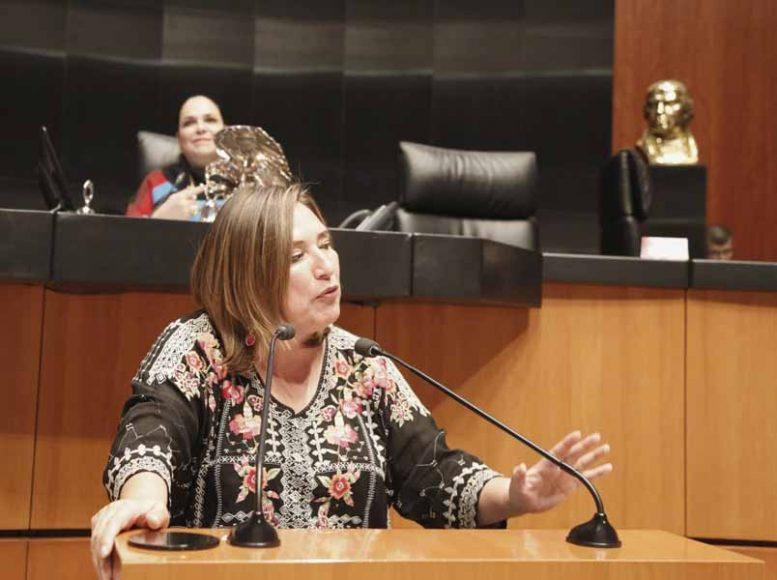 Intervención en tribuna de la senadora Xóchitl Gálvez Ruiz para referirse a un dictamen correspondiente a la Minuta con Proyecto de Decreto por el que se Reforman, Adicionan y Derogan diversas disposiciones de la Ley Federal de Derechos.