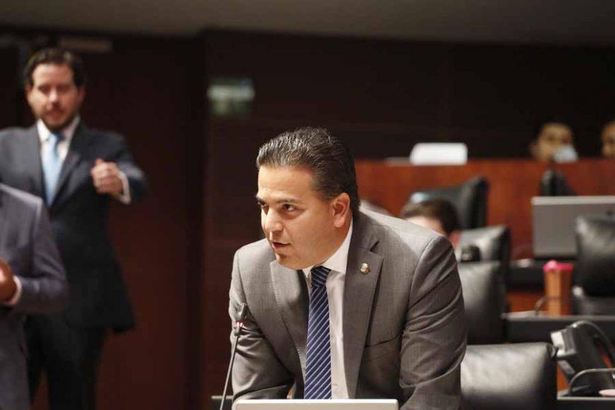 Senador Damián Zepeda Vidales, en la discusión de un dictamen en materia de derechos del agua