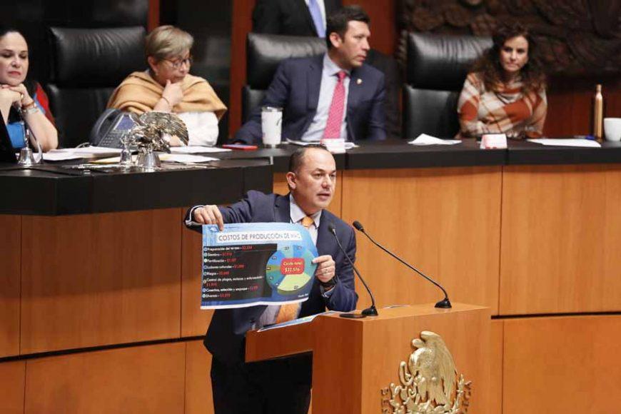 Intervención en tribuna del senador José Erandi Bermúdez Méndez para referirse a una reserva presentada al dictamen correspondiente a la Minuta con Proyecto de Decreto por el que se Reforman, Adicionan y Derogan diversas disposiciones de la Ley Federal de Derechos.