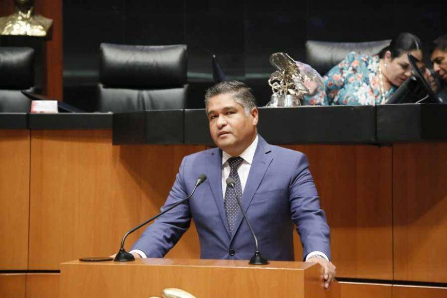 Intervención en tribuna del senador Víctor Fuentes Solís para referirse a un punto de acuerdo por el que se exhorta al Gobernador del Estado de Nuevo León, para que informe a esta Soberanía el posicionamiento institucional que el gobierno asumirá frente a las demandas de los transportistas.