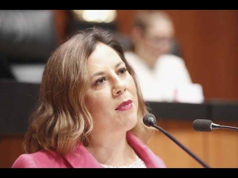 Senadora Gina Andrea Cruz Blackledge, al presentar proyecto de decreto que reforma la fracción X del artículo 17-H del Código Fiscal de la Federación.