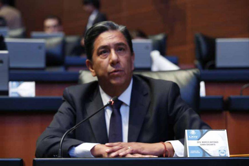 Intervención del senador Marco Antonio Gama Basarte, al referirse al tema de la inseguridad y el tráfico de armas en el país.